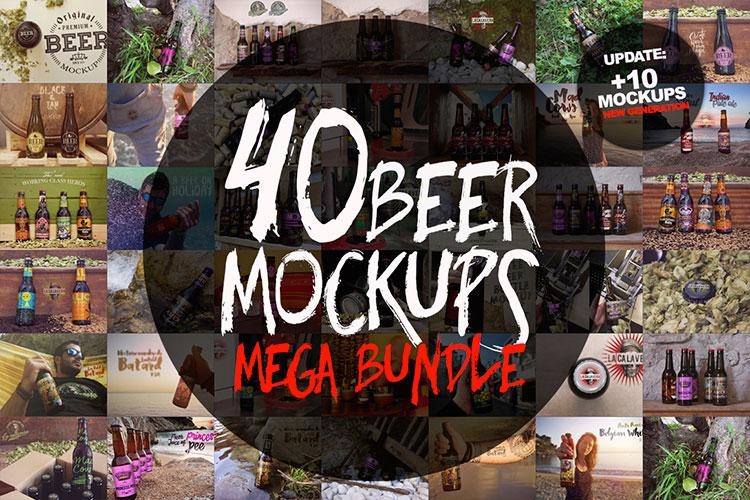 40 Beer Mockups Bundle