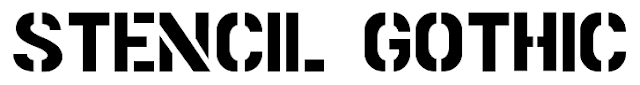 http://www.dafont.com/stencil-gothic-be.font
