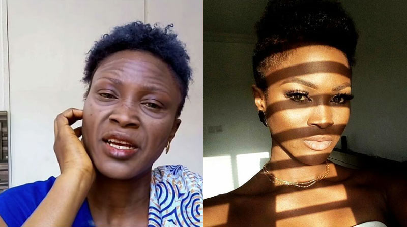 Rapper Eva Alordiah transforms herself into granny using makeup