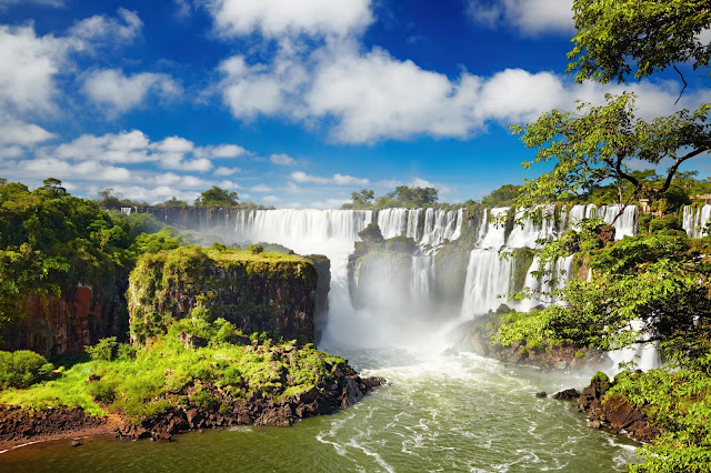 Iguassu Falls, on the border of Argentina and Brazil