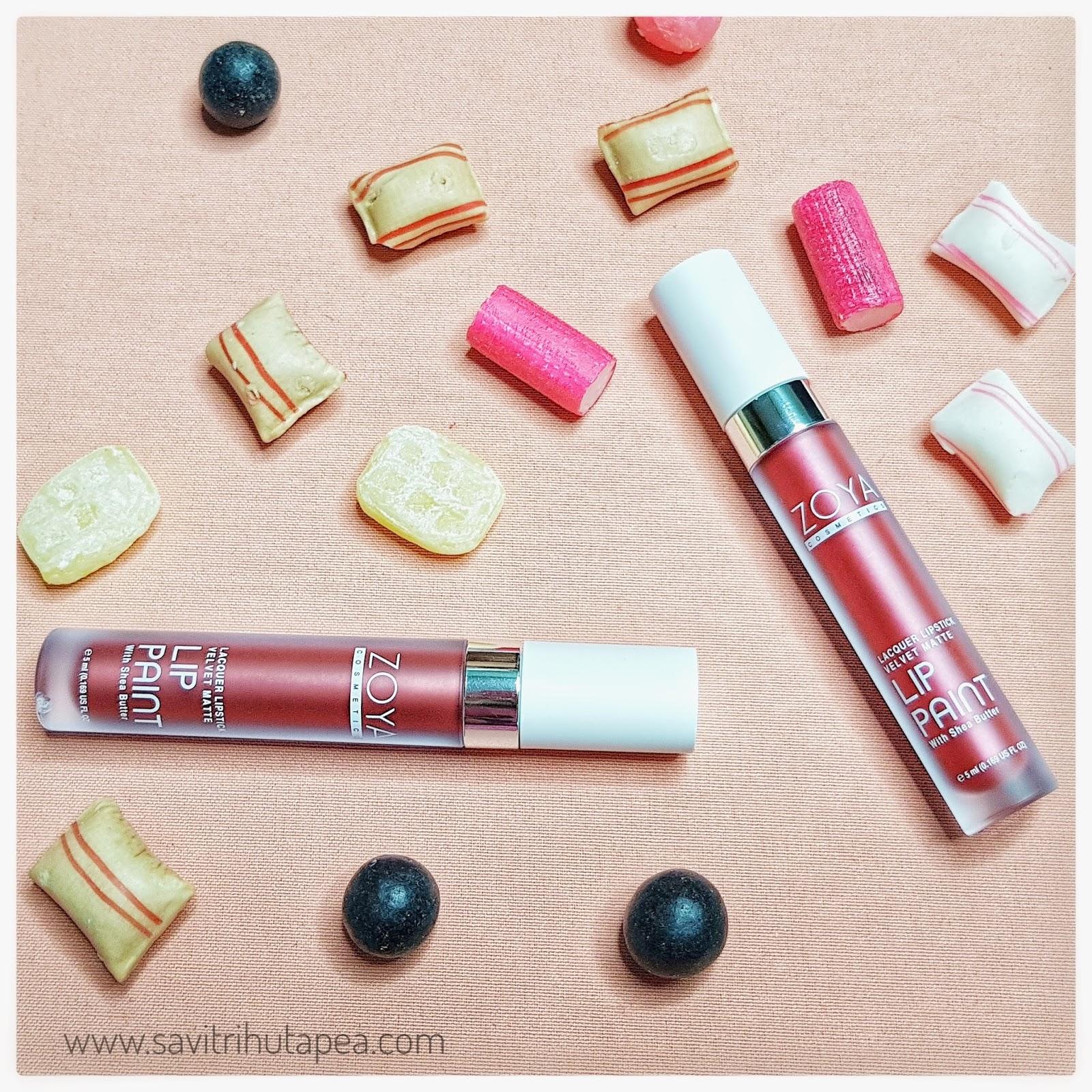 Sponsored Review Swatch Zoya Metallic Lip Paint Shade Elizabeth And Beatrix