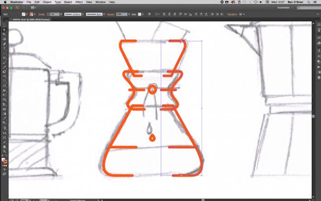 Crear icono de electrodomésticos profesional en illustrator