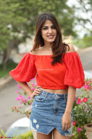 Rhea Chakraborty in Red Crop Top and Denim Shorts Spicy Pics ~  Exclusive 263.JPG