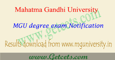 MG University degree 3rd sem results 2020 2nd year exams