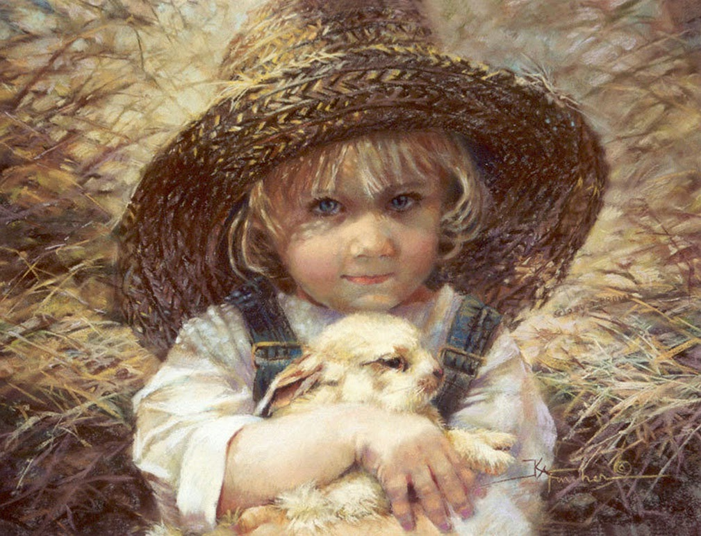 Kathy fincher a painter of children tutt 39 art pittura for Paintings of toddlers