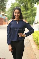 Poojita Super Cute Smile in Blue Top black Trousers at Darsakudu press meet ~ Celebrities Galleries 036.JPG
