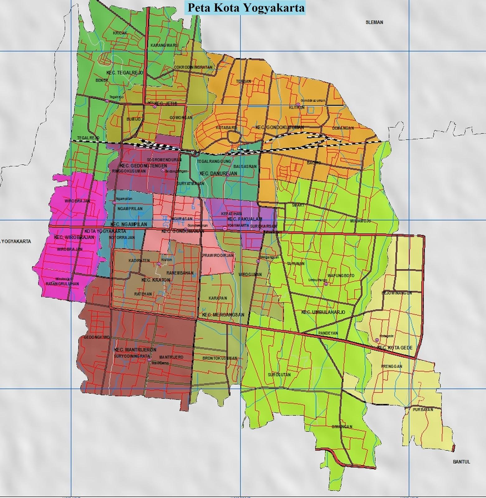 Peta Kota Yogyakarta Lengkap Gambar HD dan Keterangannya ...