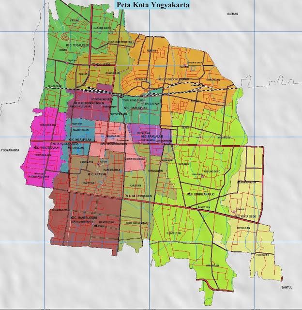 Peta Kota Yogyakarta