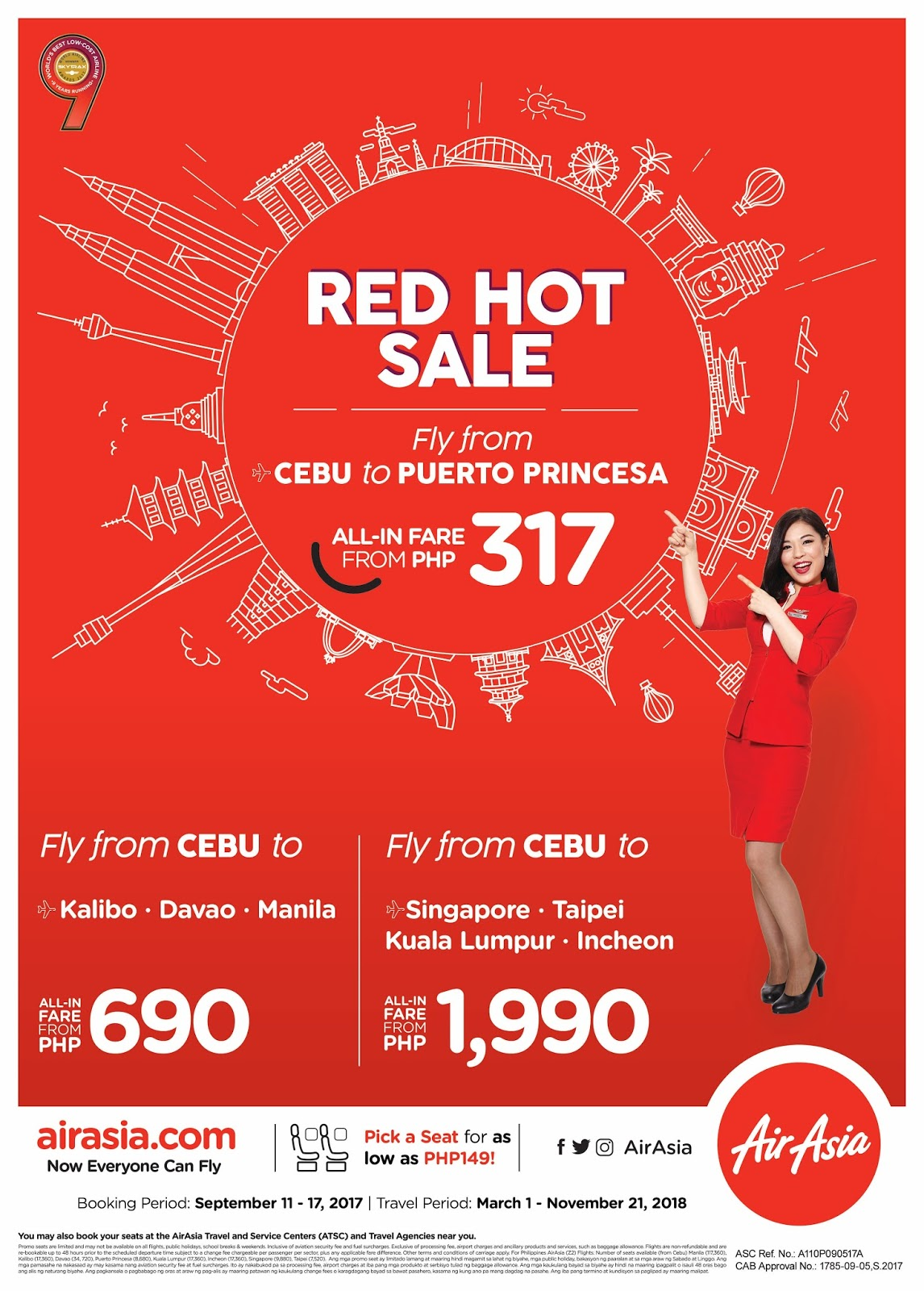 AirAsia's Red Hot Sale is back, fly from Cebu and Davao from as low as P217!