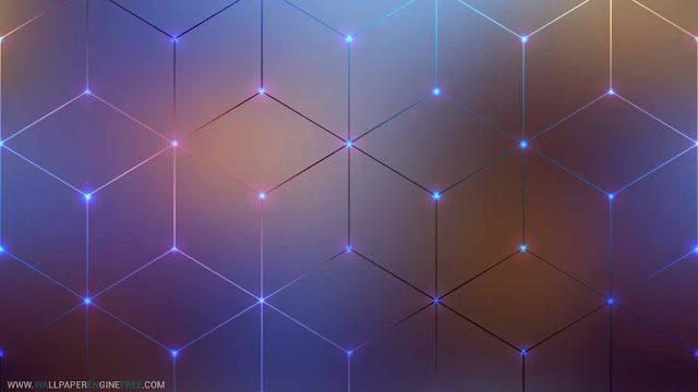 Hex Grid Lines Animated 4K Wallpaper Engine