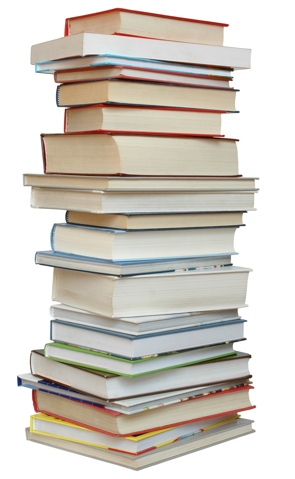 stack books pages between pile library three education homework titles short