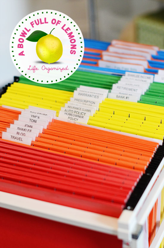 abe8ffeaa26 A good filing system is an absolute MUST to create   keep an organized  office. I purchased my filing cabinet on wheels at The Container Store. My  file ...