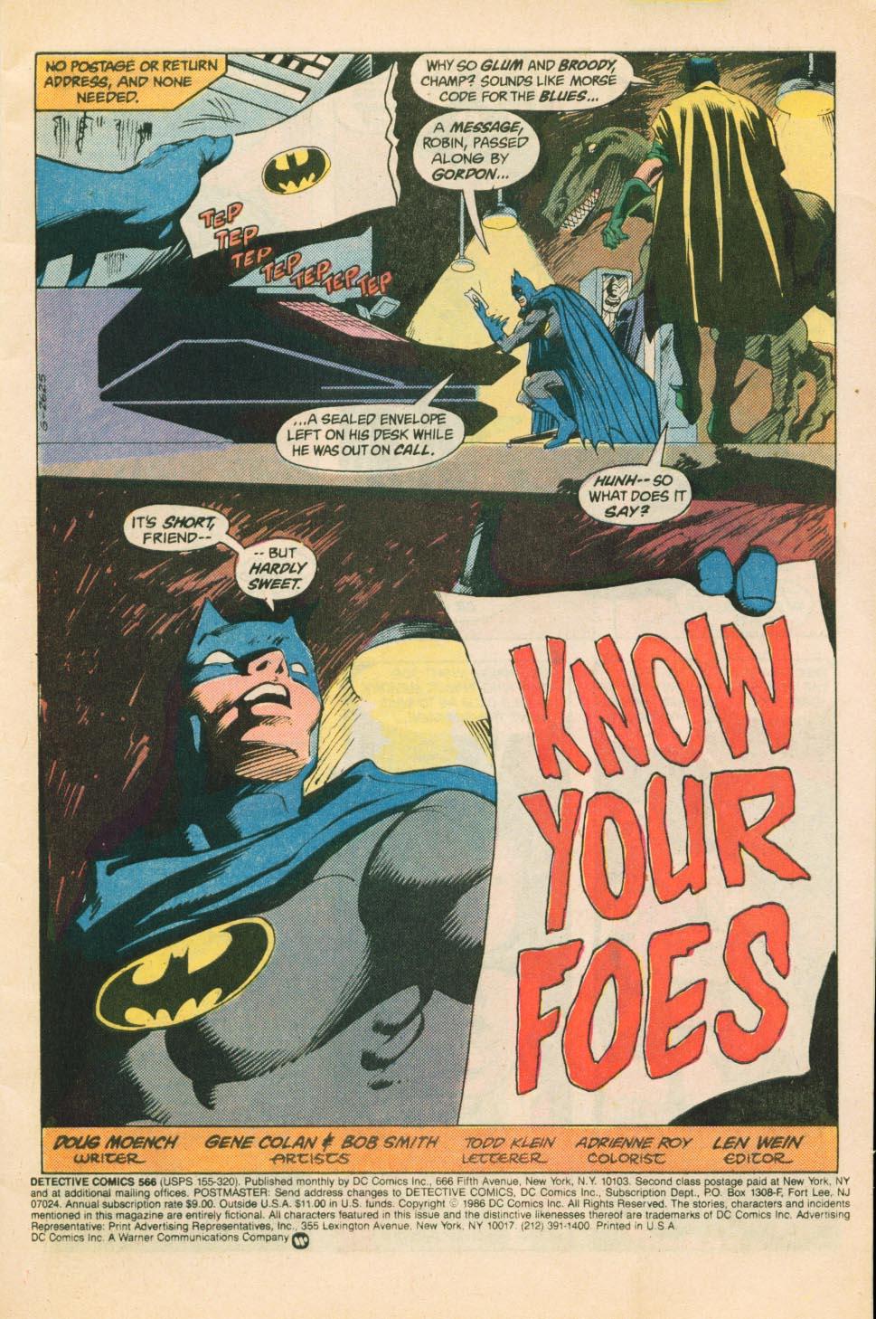 Detective Comics (1937) 566 Page 1
