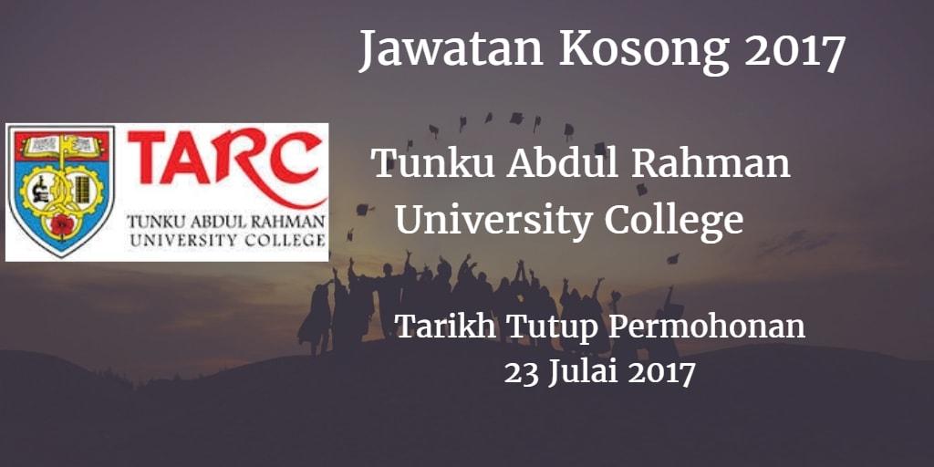 Jawatan Kosong TARUC 23 Julai 2017