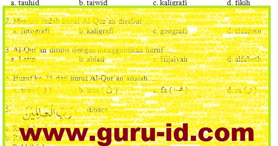 Soal Agama Islam Kelas 3 Dan Kunci Jawaban Semester 1 Amp 2 Kurikulum 2013 Info Guru Terbaru