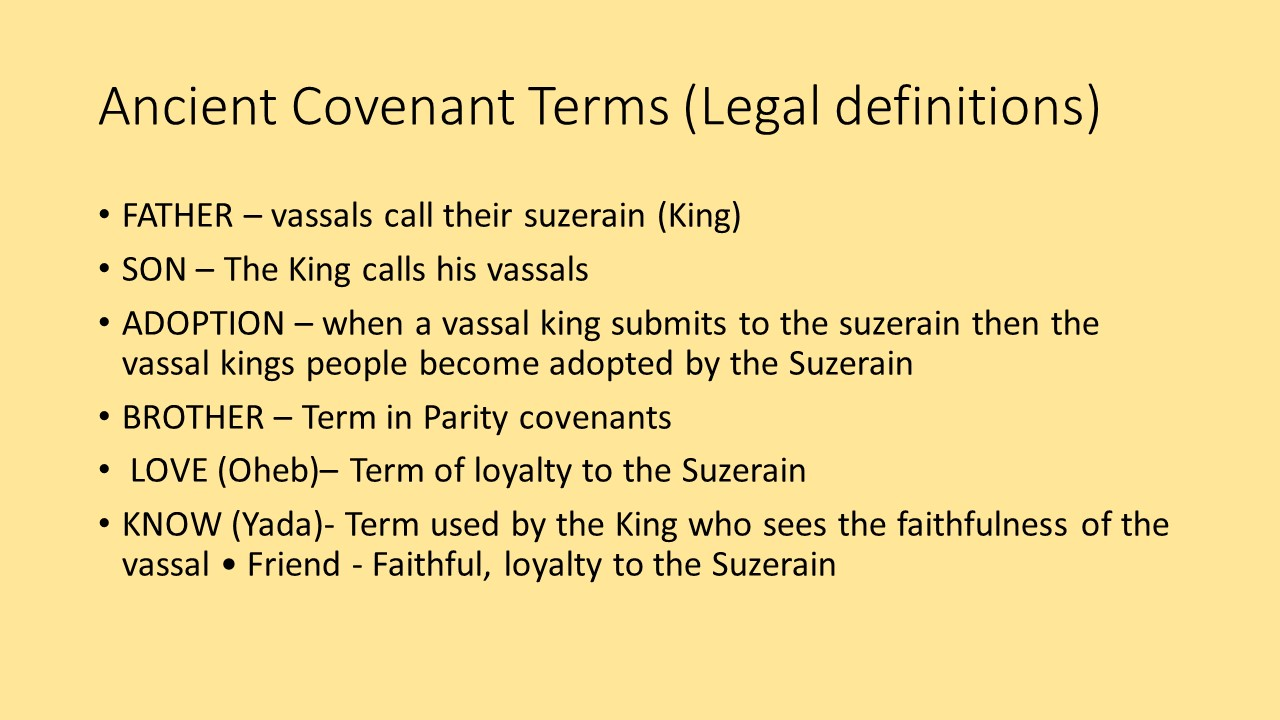 a covenant in biblical and legal terms essay This essay attempts to define covenant as seen in the old testament 266 quoting gordon paul hugenberger, marriage as a covenant: a study of biblical law and ethics page 1 notwithstanding table of covenants in the old testament.