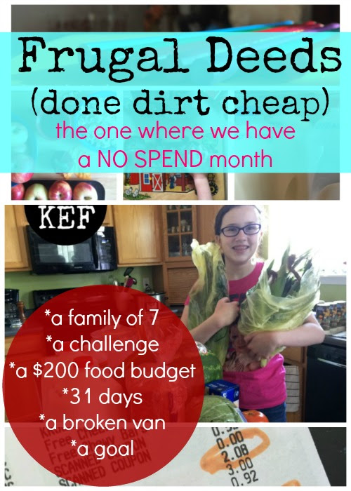 Frugal Deeds (done dirt cheap): NO SPEND, wrapping it up and looking toward the future