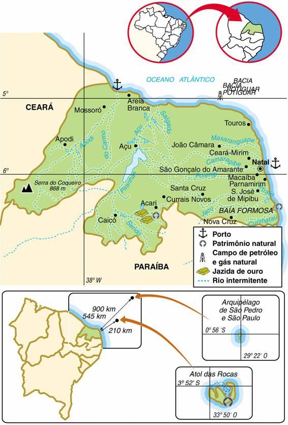 RIO GRANDE DO NORTE - ASPECTOS GEOGRÁFICOS E SOCIAIS DO RIO GRANDE DO NORTE