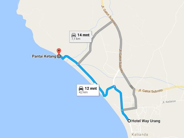 rute ke pantai ketang