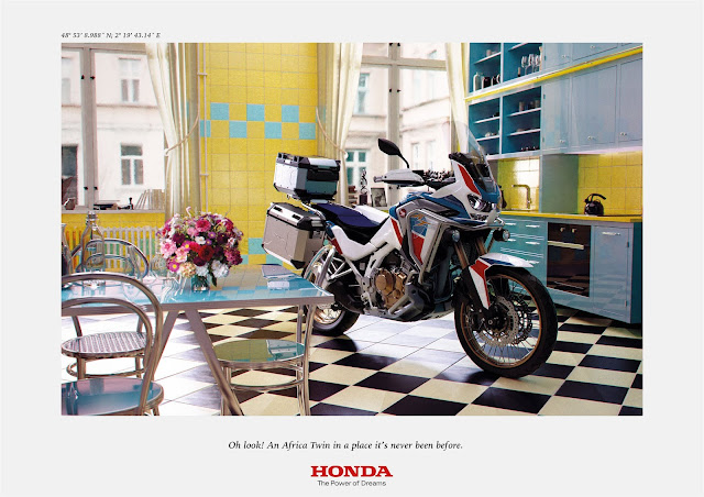 Honda Moto France Presents 'Africa Twin at Home  Campaign