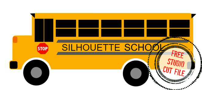 Silhouette Studio, free cut file, school bus