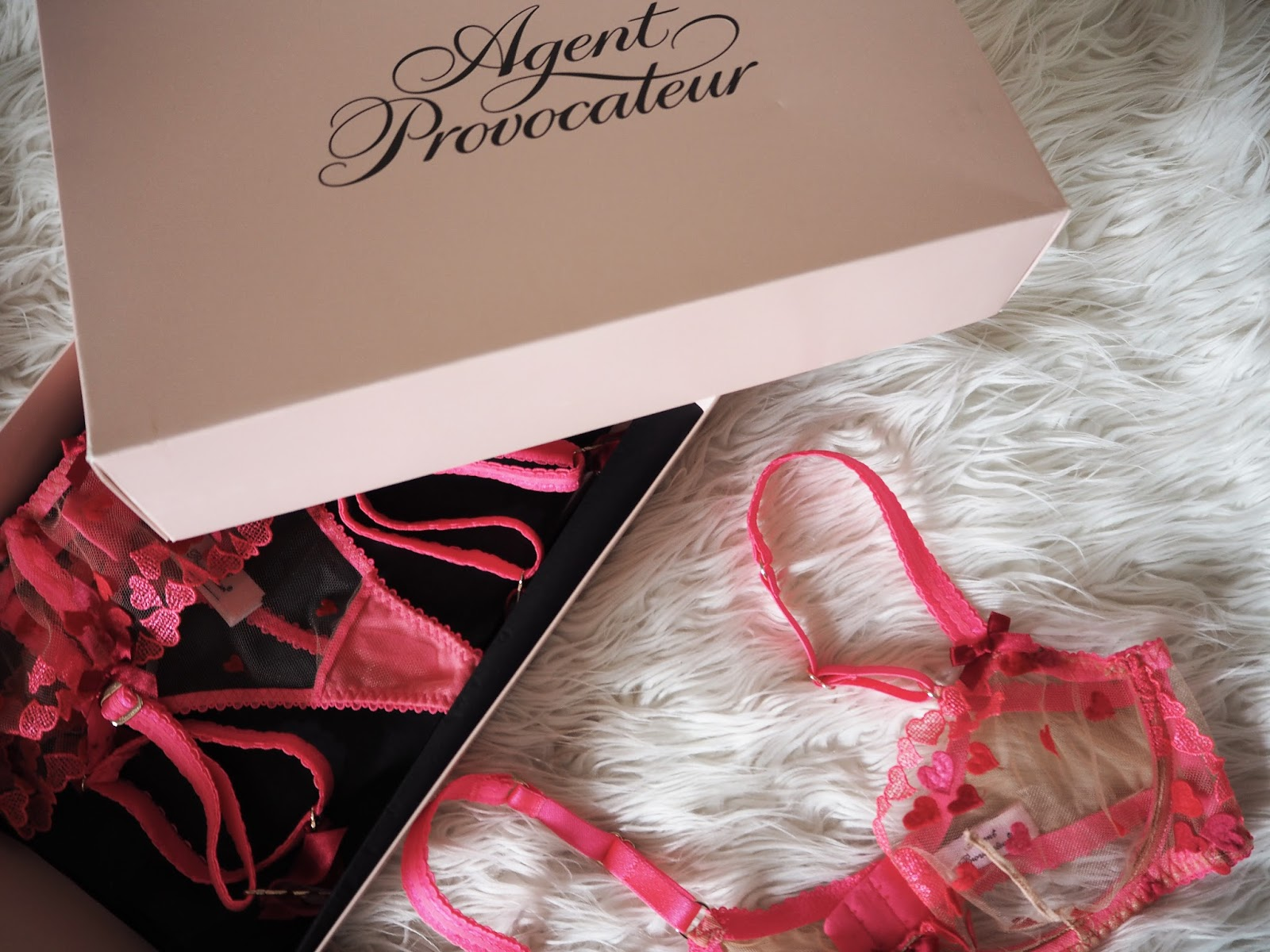 Lingerie: Agent Provocateur / Bra: Here / Thong: Here / Brief: Here / Suspender: Here