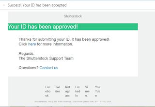 email diterimanya passpor atau aproved sebagai kontributor di shutterstock