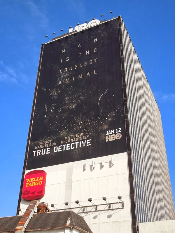 Giant True Detective series premiere TV billboard