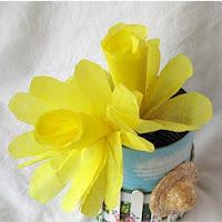 coffee filter daffodils