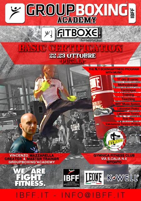 GB® FitBoxe® Basic Certification-Puglia, 22-23 Ottobre 2016 a Bitonto, Bari