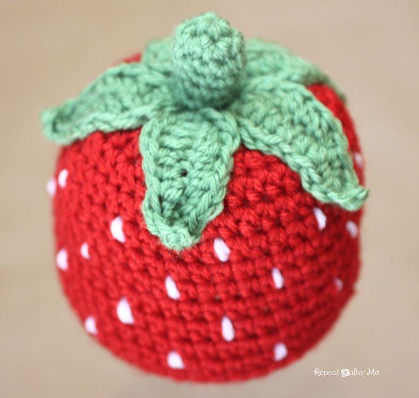 Crochet Strawberry Hat Pattern Repeat Crafter Me