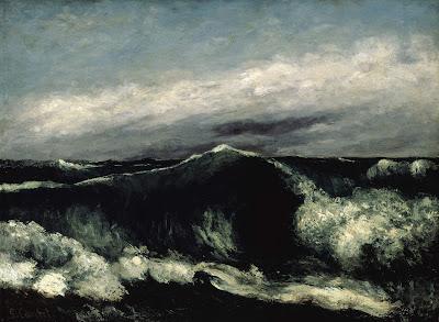 Resultado de imagen de Courbet, La vague 1870.