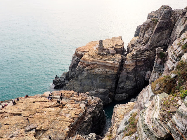 Sinseon Rock and cliffs by the ocean in Taejongdae Park, Busan, South Korea