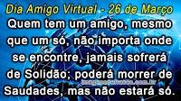 Frases Dia dos Amigos Virtuais