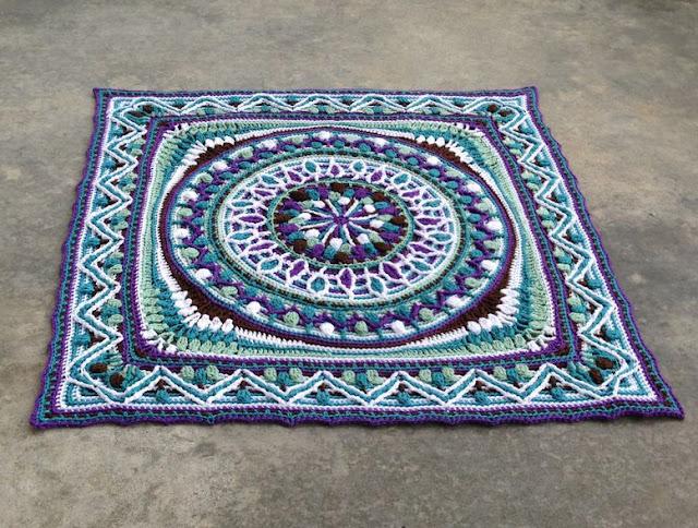 overlay crochet - Dandelion mandala
