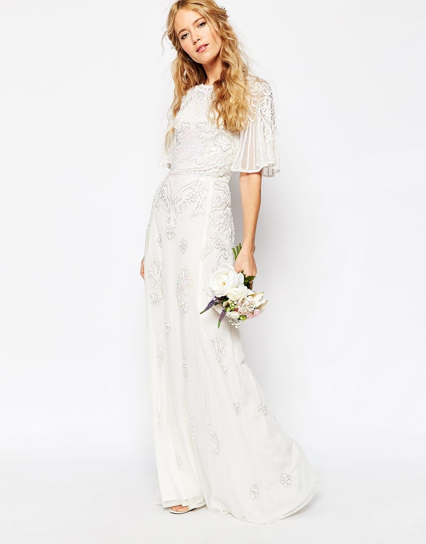 Asos Bridal, Asos Bridal is here, Asos Bridal Iridescent Flutter Sleeve Maxi Dress, Budget wedding dress