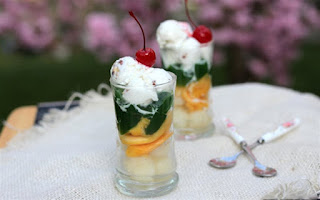 Thạch trà xanh trái cây bổ sung vitamin ngày giao mùa 1