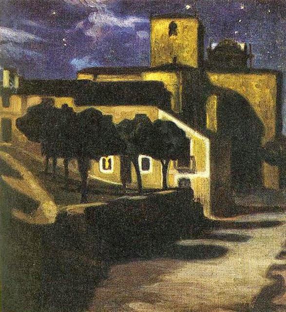 Cena Noturna em Avila - Diego Rivera e suas principais pinturas ~ Muralismo mexicano