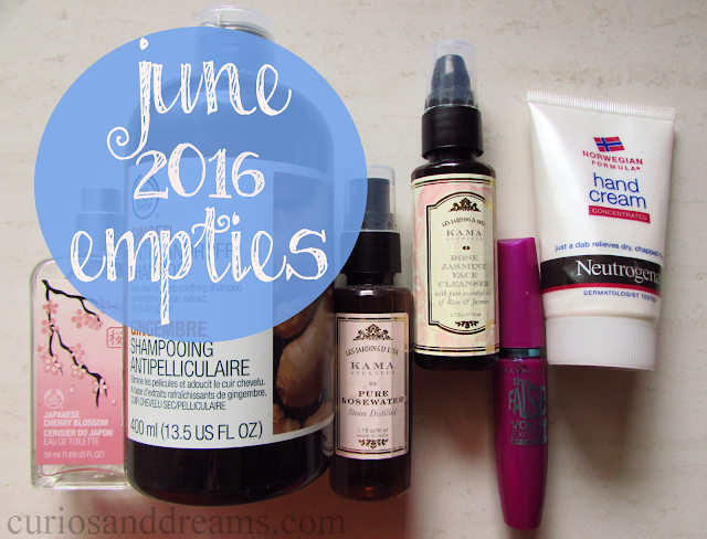 June 2016 Empties