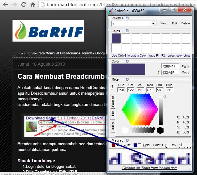 Dimana Download Anime: ColorPic,Download Software Kode Warna HTML