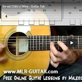 Belajar Lagu Sweet Child o' Mine - Guitar Tab