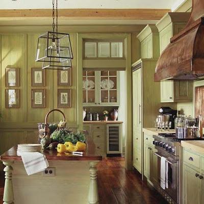 Desain Interior Dapur Sentuhan Eropa