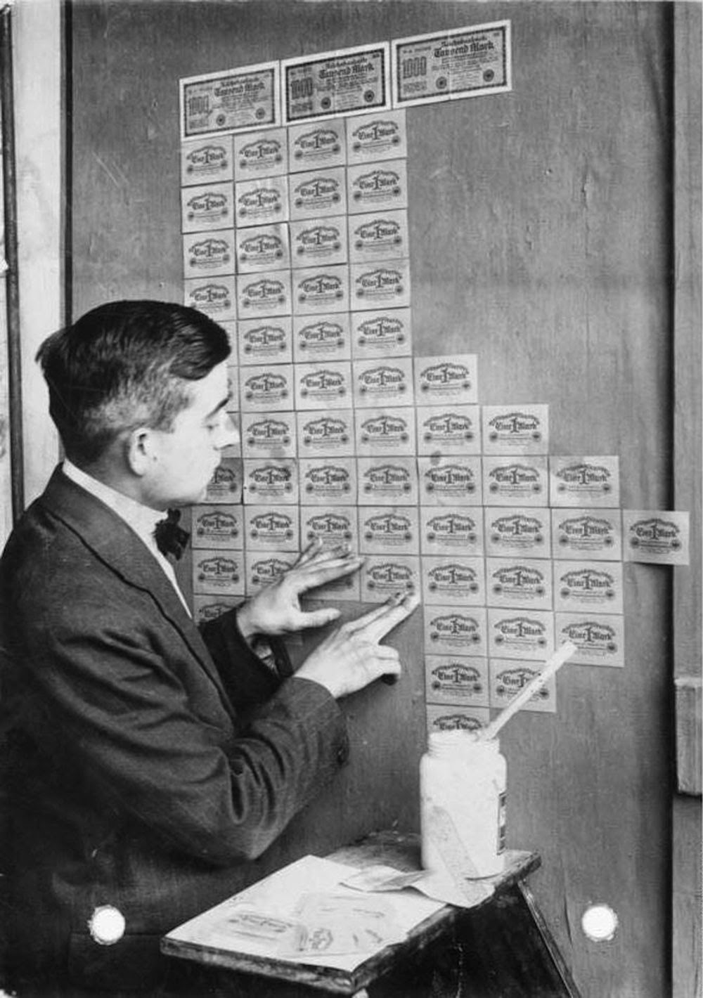 Germany, 1923: banknotes had lost so much value that they were used as wallpaper.