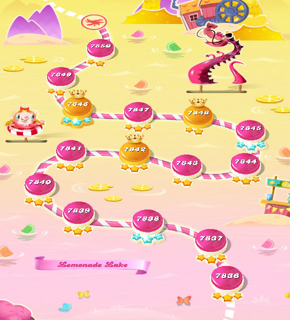 Candy Crush Saga level 7836-7850