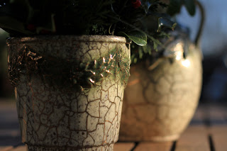 McCoy Grecian Pottery and Holiday Greens