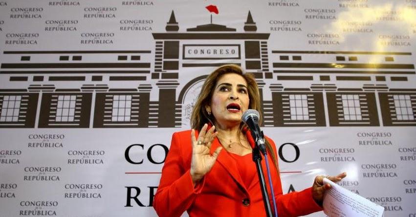 Piden retirar a Congresista Maritza García de presidencia de Comisión de la Mujer