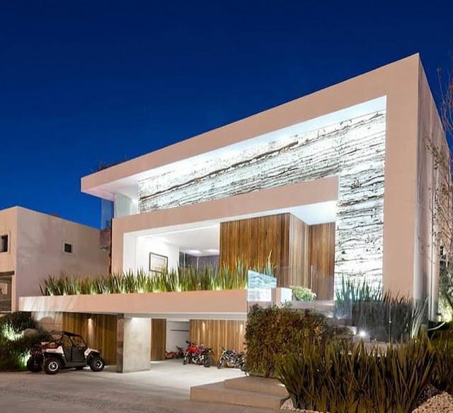 gambar rumah minimalis terbaru dan tata lampu untuk tampak depan