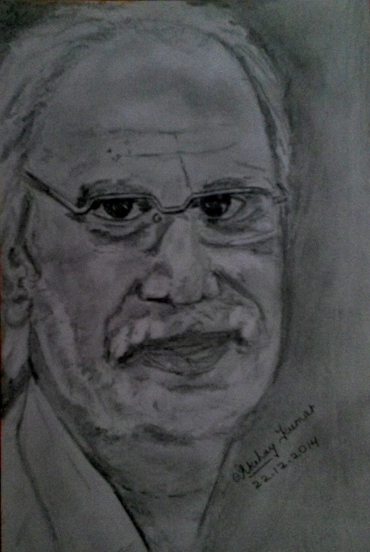 Pencil drawing of shri ajay kumar from jodhpur by akshay kumar
