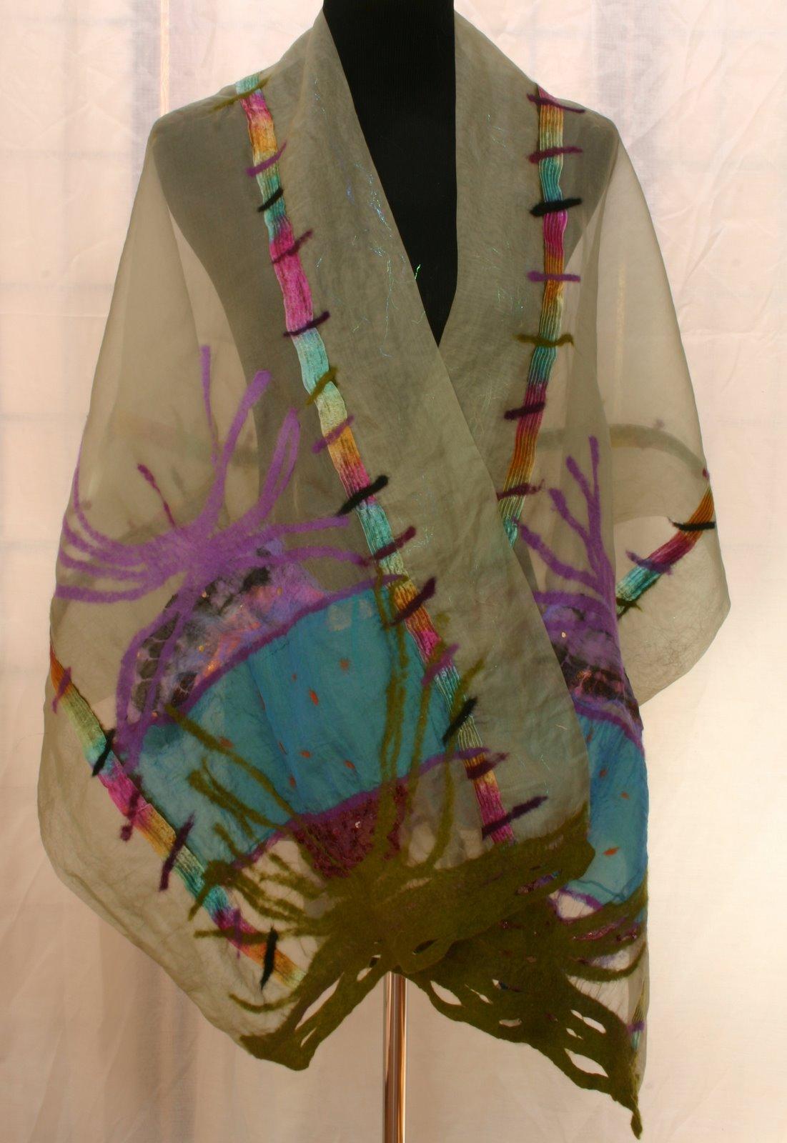 Carol Furtado - felted and woven chenille scarves: nuno ...