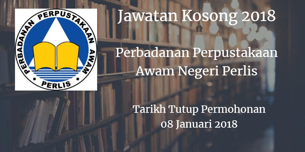 Jawatan Kosong Perbadanan Perpustakaan Awam Negeri Perlis 08 Januari 2018